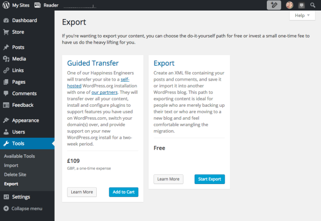 Export your content 2