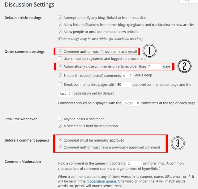 Canary Beck's Discussion Settings